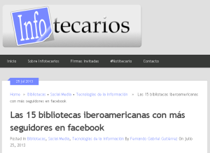 15 bibliotecas iberoamericanas en facebook